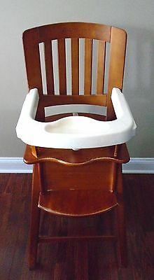 Eddie  Bauer  Wood  High Chair  W/auxiliary  Tray