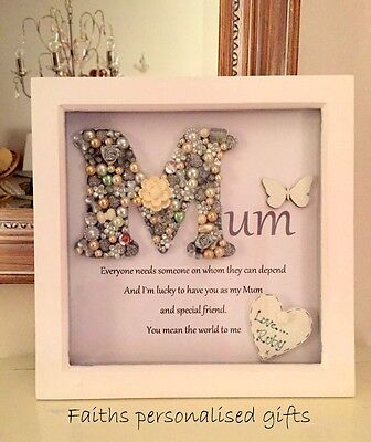 Mum/nan/daughter Personalised Box Frame Vintage/shabby Chic Style