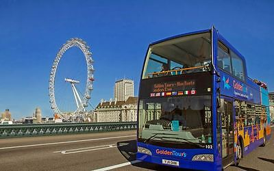 2 x TICKETS FOR THE HOP ON HOP LONDON BUS TOUR WITH GOLDEN TOURS + FREE 2ND DAY