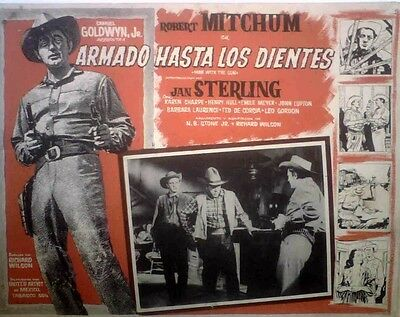 Robert Mitchum, Jan Sterling WESTERN lobby card 1955