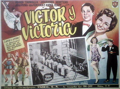 TRANSEXUAL GERMANY VICTOR/VICTORIA lobby card, 1957