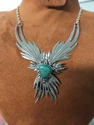 Navajo Native American Turquoise Phoenix Necklace Set Charles J. Stunning #2 Wow