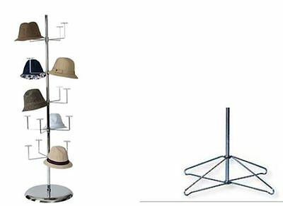 Hat Display Rack, Floor Stand or Table top - holds up to 20 hats