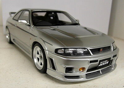 Otto 1/18 Scale Nissan Skyline GTR R33 Nismo 400R Silver Resin sealed Model Car