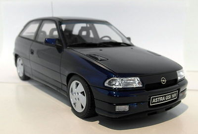 Otto 1/18 Scale OT203 Opel Astra GSi 16V Blue Mica Spectra Resin cast Model Car