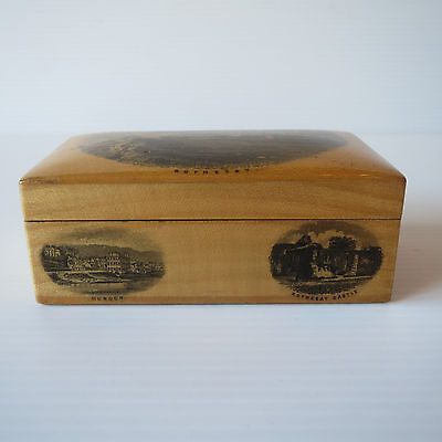 Antique Victorian Mauchline Mauchlineware Box, Rothesay, Scotland, Treen