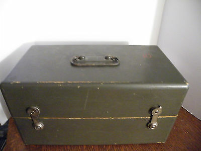 US Army Mirror Stereo Viewer Stereoscope Aerial map viewer in case Q.O.S corp