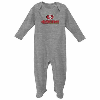 San Francisco 49ers Baby Infant Thermal Coverall Pajamas (FREE SHIPPING) 3-6 mo