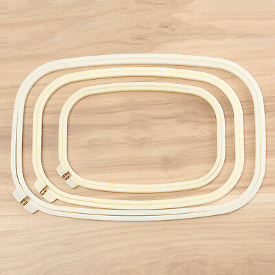 Multi-size Rectangle Plastic Embroidery Frame Cross Stitch Hoop Ring Sewing Tool