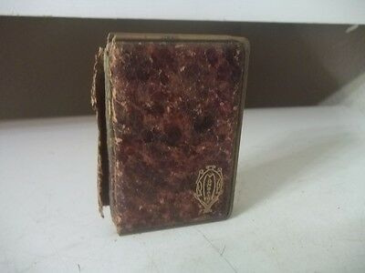 Vintage ANTIQUE MONDAINE LEATHER BOOK STYL COMPACT ESTATE FIND