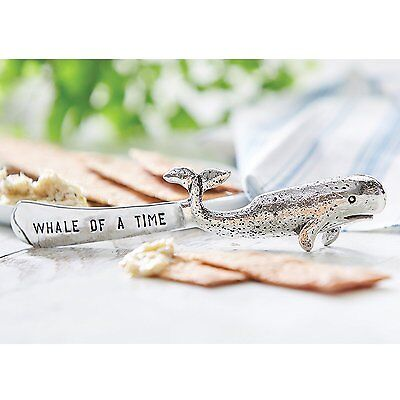 Mud Pie ML7 Sea Life Anchors Aweigh Kitchen Dining Metal Spreader Whale 4031038
