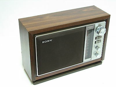 "SONY ICF-9740W LARGE AM / FM Table Radio 6"" Speaker LOUD Perfect and n. MINT"