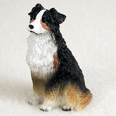 AUSTRALIAN SHEPHERD AUSSIE tri color TINY ONES DOG Figurine Statue Pet Resin