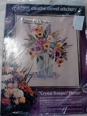 Paragon needle craft. Kit # 0210 Crystal Bouquet.