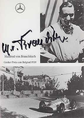 "BRAUCHITSCH - Manfred von Brauchitsch -""Mercedes"" original signiert - signed - 4"