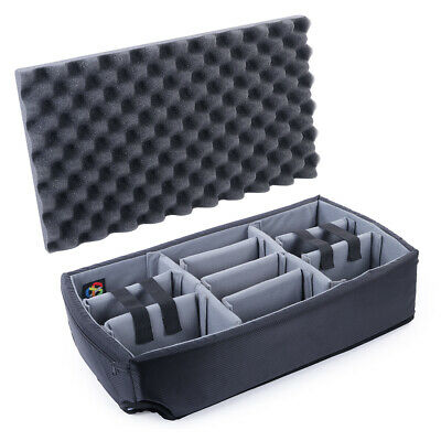 New Think Tank Dividers (grey) for Pelican 1510 Case. Comes with lid foam.