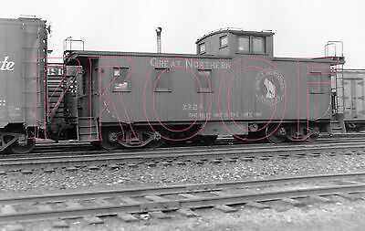 Great Northern (GN) Caboose X224 at Tacoma, WA in 1955 - 8x10 Photo
