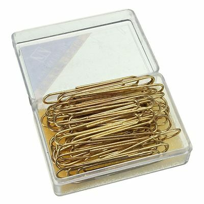 40/80X Large Metal Paper Clips Paperclips Clamps Gold Plated Home Office School