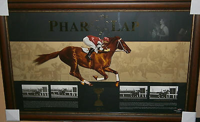Phar Lap Jim Pike Melbourne Cup Horse Racing Framed Limited Edition Print