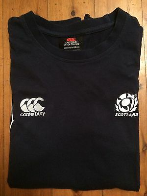 Scotland Rugby Training T Shirt Size Medium By Canterbury