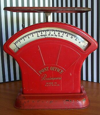 Vintage Red Post Office Letter Scales – Made in Australia