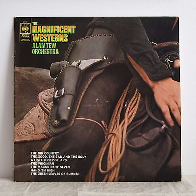 ALAN TEW Magnificent Westerns UK CBS LP '69 Groovy Spaghetti Western Themes