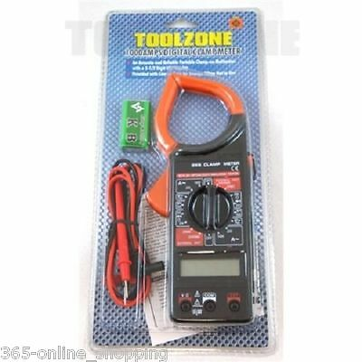 1000 Amps Digital Clamp Meter Multi Tester Current Lcd Display With Carry Case