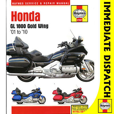 [2787] Honda GL1800 Gold Wing 1800 2001-10 Haynes Workshop Manual