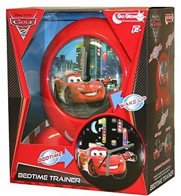 Disney Cars Baby Go Gro Glow Sleep Training Night Light Clock Bedtime Trainer