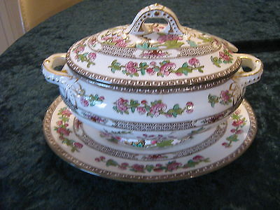 Vintage c1950 Spode Copeland The Indian Tree Bone China Vegetable tureen & plate