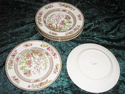 "Four Vintage c 1950 Spode Copeland The Indian Tree Bone China Plate 10"" / 26 cm"
