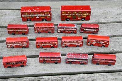 London Bus 14 x Matchbox GORGI JUNIORS Matchbox Super Kings