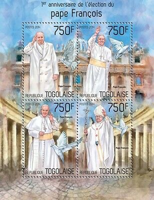 TOGO Pope Francis 2014 TG14207a MNH STAMP