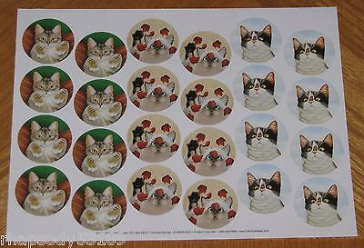 Inquisitive Cats Lowell Herrero 72 sticker envelope seals Hugo Hege Erin Martin