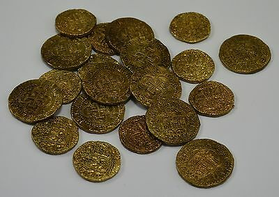 Superb Job Lot 20 Spanish Gold Doubloons - Coins/Pirates/Treasure/Spanish/Gift