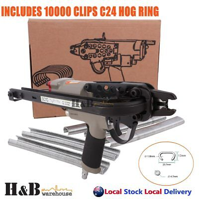 Pro Pneumatic 24mm C24 Hog Ring Fencing C Clip Air Operated Gun Pliers F0011