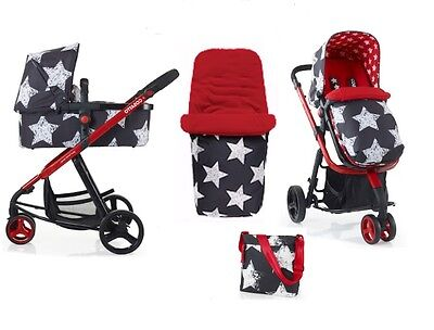 Brand new Cosatto giggle 2 3 in 1 combi in hipstar with bag footmuff & raincover