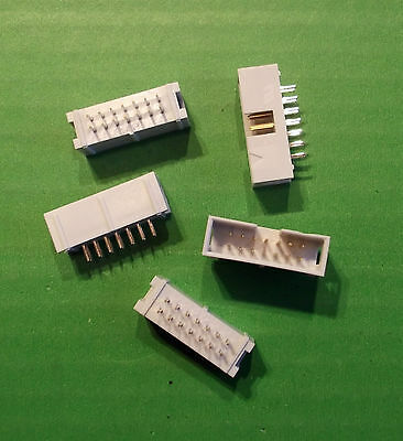 IDC 14 Way Header Grey Box Boxed Low Profile Vert PCB 3012-14CSY x 5pcs Offer's
