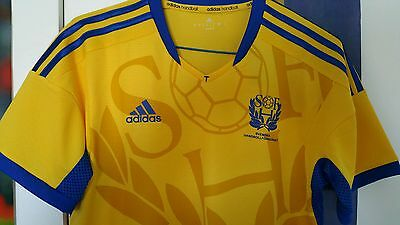 Camiseta Sweden Shirt Match un Worn Handball Trikot Adidas Formotion Maglia S