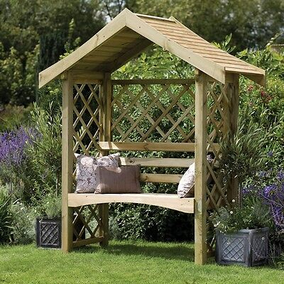 Wooden Garden Two Seat Arbour Structure Pressure Treated Timber