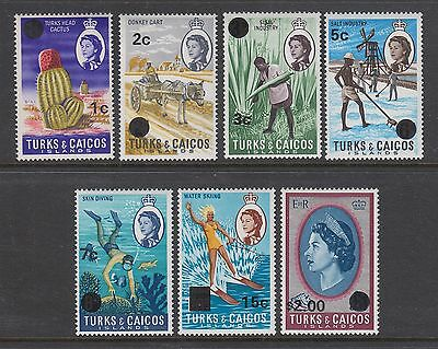 TURKS & CAICOS Islands #182a-195a Mint Lightly Hinged WATERMARKED SIDEWAYS