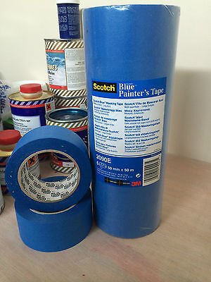 3M Blue 50mm 14 Day Painters Tape, Ideal For Long Term Masking  09054/50