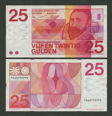 NETHERLANDS - 25 gulden  1971  P92a  Uncirculated  ( Banknotes )
