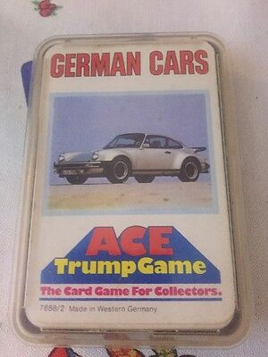 Ace Trump Game Top Trumps German Cars Complete