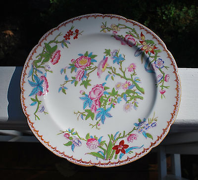 """MINTON GILMAN COLLAMORE Porcelain China 9"""" Dinner Plate CUCKOO pattern Scalloped"""