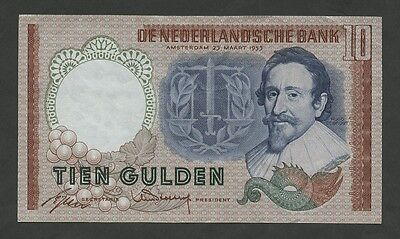 NETHERLANDS - 10 gulden  1953  P85  choice VF-EF  ( Banknotes )