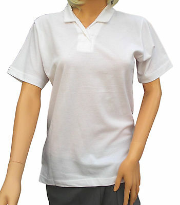 CATHEDRAL Blouse Ladies Heather Bowling Sports White Open Neck 100% Cotton