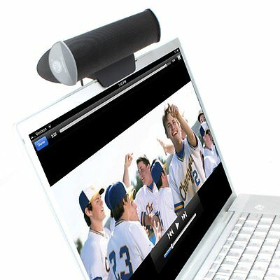 GOgroove Portable USB Speaker Sound Bar with Clip-On Mount for Laptop PC