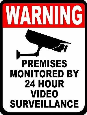 SECURITY SURVEILLANCE SIGNS Sign  Video Warning * Burglar * Robber * Thief