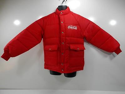 Vintage Excellent 1970's Coca Cola Puffer Jacket Made By Chalk Line Size Medium